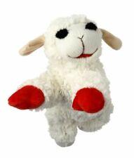 "Multipet Plush Dog Toy, Lambchop, 10"", White/Tan Pack of 1, white"