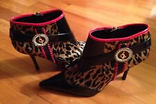 Baby Phat Cheetah Print Women's Leather Ankle Boots..Size 6.5 B
