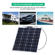 50W Tragbares 12V Solar Panel Outdoor Sonnenkollektor Ladegerät für Home Yacht