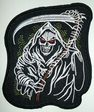 "Grim Reaper Embroidered Patch~4 1/2"" x 4""~Iron or Sew On~QUALITY~Free Shipping"