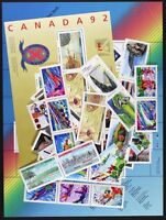 CANADA Postage Stamps, 1992 Complete Year set collection, Mint NH, See scans