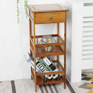 Industrial Rustic Bedside Table Nightstand Stackable End Table Retro Chic Table