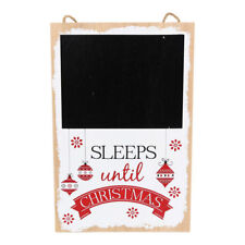 Sleeps Until Christmas Blackboard Christmass Countdown Advent Wooden Decoration