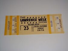 The Lawrence Welk Show 1977 Unused Concert Ticket Selland Arena Fresno Ca Usa y