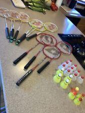 11 Badminton Rackets Yonex GR-505 Baden Power Max + Extras Nice Racquets