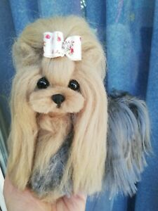 OOAK Needle Felted Yorkshire terrier puppy/dog