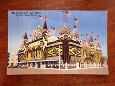 1950s World's Only Corn Palace Mitchell South Dakota SD Tourist Postcard Posted