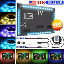 4X LED Strip Light USB Powered RGB Multi Color TV Backlight Lighting With Remote