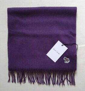 PAUL SMITH SCARF ZEBRA PURPLE 100% LAMBSWOOL NEW WITH TAG MADE in UK RRP £120