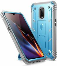 OnePlus 6T Case,Poetic® [w/Kick-stand] Armor Heavy Duty Shockproof Cover Blue