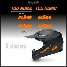 6 Adesivi Nome personalizzato moto casco enduro KTM