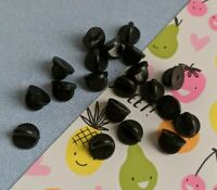 20 replacement black rubber pin backs
