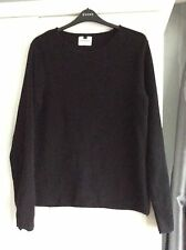 Topman Black Size Medium Long Sleeved Top 100% Cotton Excellent Condition