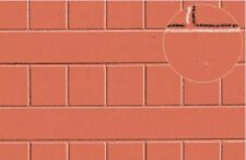 Slaters Embossed Plastikard No.0428 1:43 Red Roof Tile