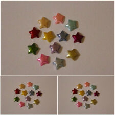 80x10mm Flat back Mixed Colour Pearl Stars  Wedding Cards/ Scrapbooking/etc