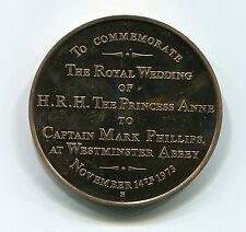 United Kingdom 1973 Marriageof Princess Anne and Captain Mark Phillips Medal