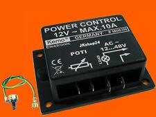 NEU! MOTOR-DIMMER REGLER LAMPENDIMMER STEUERUNG 12-48V/AC 10A POWER-CONTROL