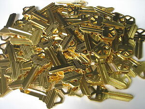 50 Locksmith Key Blank Blanks /30 kwikset KW1 +20 Schlage SC1/Brass/Made by Ilco