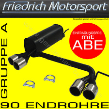 FRIEDRICH MOTORSPORT DUPLEX AUSPUFF VW GOLF 4 CABRIO