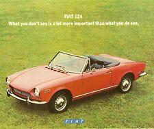 1971 FIAT 124 BROCHURE -FIAT 124 SPIDER CONVERTIBLE-COUPE-4D-SW-FIAT