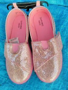 Girls Pink Glitter Pumps Size  Uk12  EU 29 New