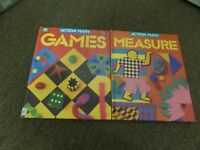 LOT OF 2 ACTION MATH HC BOOKS MEASURE & GAMES