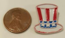 JHB Uncle Sam Hat buttons Vintage Patriotic USA Red, White & Blue Metal Buttons!