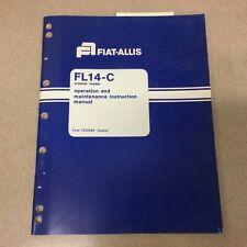 Fiat Allis Fl14c Operation Amp Maintenance Instruction Manual Crawler Track Loader