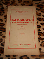 ACHARD Marcel: Malborough s'en va-t-en guerre - Cahiers de Bravo n° 8, 1930