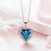 Angel's Wing Style 925 Sterling Silver Rainbow Austrian crystal Necklace Pendant