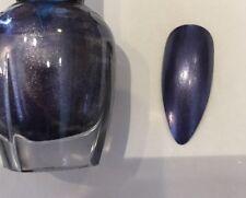 Metallic Sapphires Long Stiletto False Nails