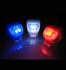 Blue Light Color   1 Pair Led Silicone Mountain Bike Front Rear Lights Set