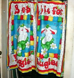 """Buggles the Bunny Design Curtains 36""""  Wide, 42"""" Long, Made in the USA"""