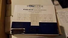 New - Tru Audio Vcs-100 Wt Slide Volume Control