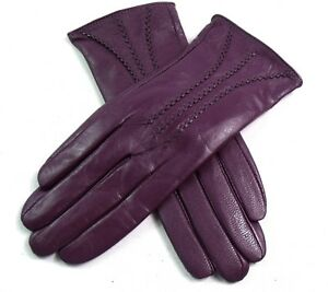 New Womens Premium High Quality Real Super Soft Leather Gloves Lined Winter Warm