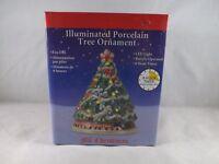 Mr. Christmas Illuminated Porcelain Ornament - New - Christmas Tree