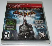 Batman: Arkham Asylum Game of the Year Edition for Playstation 3 PS3 Brand New!
