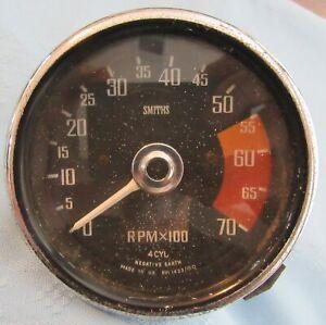 "AUTHENTIC OEM SMITHS MG MIDGET RVI1433/00 TACHOMETER RPMX100 3 1/2"" DIAMETER"