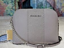 4fb5b8713bf0 ... discount nwt michael kors cindy lg. micro stud dome crossbody bag  leather pearl grey 268