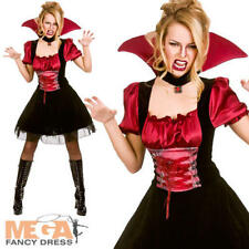 Bloodlust Vamp Ladies Halloween Fancy Dress Womens Vampire Adults Costume Outfit