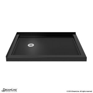 "Double Threshold Shower Base 36"" x 60"" Left or Right drain. Black"