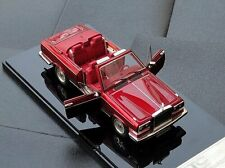 Rolls-Royce CAMARGUE Convertible 1985 Transparent red  1/43