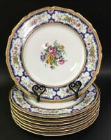 """T&V Limoges France La Cloche Floral Dinner Set 7 Plates 11"""""""
