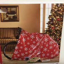 Holiday Time Red Snowflake Christmas Bike Gift Bag Large Jumbo Big Giant Card