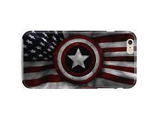 Captain America Flag USA Iphone 4s 5 SE 6 7 8 X XS Max XR 11 Pro Plus Cover Case