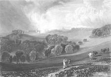 Sussex BRIGHTLING OBSERVATORY PARK Rosehill ~ 1865 Landscape Art Print Engraving