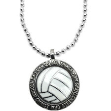 Volleyball Lead Free Pewter Philippians 413 Necklace  (SPV)