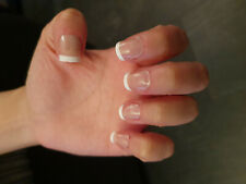 24x Daily Wear Full Cover Natural Short Sheer Pink French Manicure False Nails