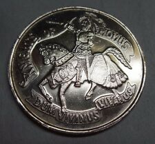 "Vintage 1988 Silver Tone Knights of Momus ""Momus Goes To Church"" Mardi Gras Coin"