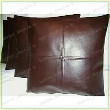 New Genuine Soft Lambskin Pure Leather Pillow Cushion Cover All sizes PS04